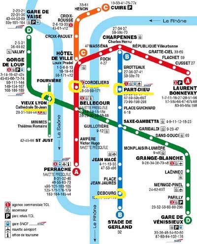 Plan du m tro de Lyon - TCL