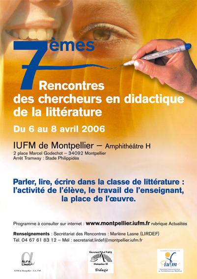 11e rencontres des chercheurs en didactique des litteratures