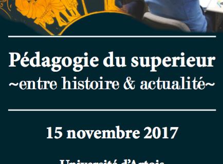 À Arras pour réviser l'histoire de la pédagogie dans le supérieur